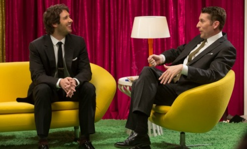 Josh Groban & Scott Aukerman-Comedy Bang! Bang! Photo Credit:Chris Ragazzo/IFC ©2014