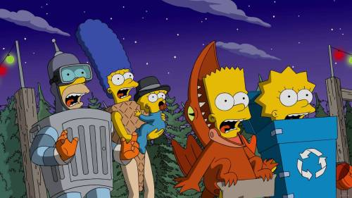 "THE SIMPSONS: In the midst of a major drought, Mr. Burns introduces a Hunger Games-style contest in which Springfield's children fight each other for a day in Burns' personal reservoir. Meanwhile, Lisa's imaginary best friend, Rachel, is jealous of Lisa's real best friends and starts killing them. Moe tells Bart that the barflies are actually covert agents and that he wants Bart join their team in Homer's place in the all-new ""Treehouse of Horror XXVII"" episode airing Sunday, Oct. 16, (8:00-8:31 PM ET/PT)."