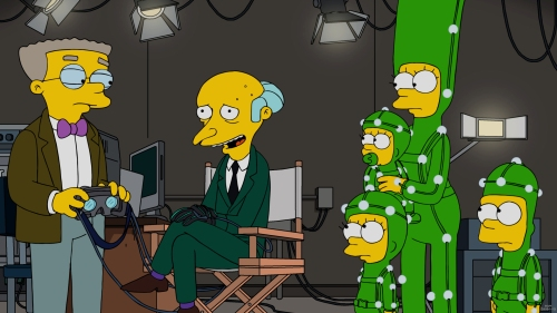 "THE SIMPSONS: Mr Burns hires the Simpson family to be his virtual reality family on the all-new ""Friends And Family""  episode of THE SIMPSONS airing Sunday, Oct. 2. (8:00-8:30 PM ET/PT). THE SIMPSONS ™ and © 2016 TCFFC ALL RIGHTS RESERVED. Cr: FOX"