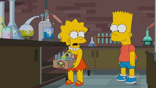 "THE SIMPSONS: Lisa and Bart investigate Krusty's suspicious new ""Krustaceans"" candy in the all-new ""Trust But Clarify"" episode of THE SIMPSONS airing Sunday, Oct. 23 (8:00-8:30 PM ET/PT) on FOX."