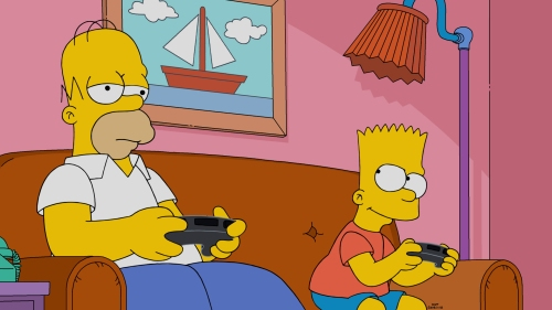 "THE SIMPSONS: Homer finds a new app that makes his life much easier and outsources his father-son bonding in the all-new ""Dad Behavior"" episode of THE SIMPSONS airing Sunday, Nov. 20 (8:00-8:30 PM ET/PT). THE SIMPSONS ™ and © 2016 TCFFC ALL RIGHTS RESERVED. CR:FOX"