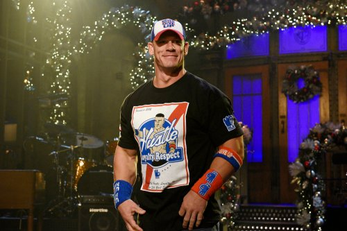 "SATURDAY NIGHT LIVE -- ""John Cena"" Episode 1713 -- Pictured: Host John Cena on December 6, 2016 -- (Photo by: Rosalind O'Connor/NBC)"
