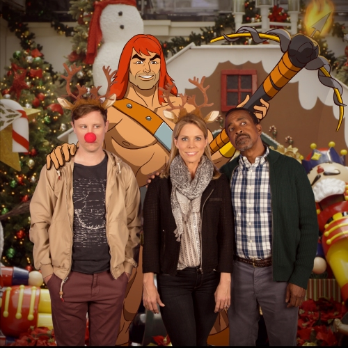 "SON OF ZORN:  L-R:  Johnny Pemberton, Zorn (voiced by Jason Sudeikis), Cheryl Hines and Tim Meadows in the ""Happy Grafelnik"" episode of SON OF ZORN airing Sunday, Dec. 11 (8:30-9:00 PM ET/PT) on FOX.  ©2016 Fox Broadcasting Co.  Cr:  FOX"