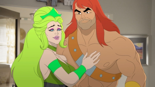 "SON OF ZORN:  L-R:  Radiana (voiced by guest star Olivia Wilde) and Zorn (voiced by Jason Sudeikis) in the ""My Radioactive Ex-Girlfriend"" episode of SON OF ZORN airing Sunday, Jan. 8 (8:30-9:00 PM ET/PT) on FOX.  ©2016 Fox Broadcasting Co.  Cr:  FOX"